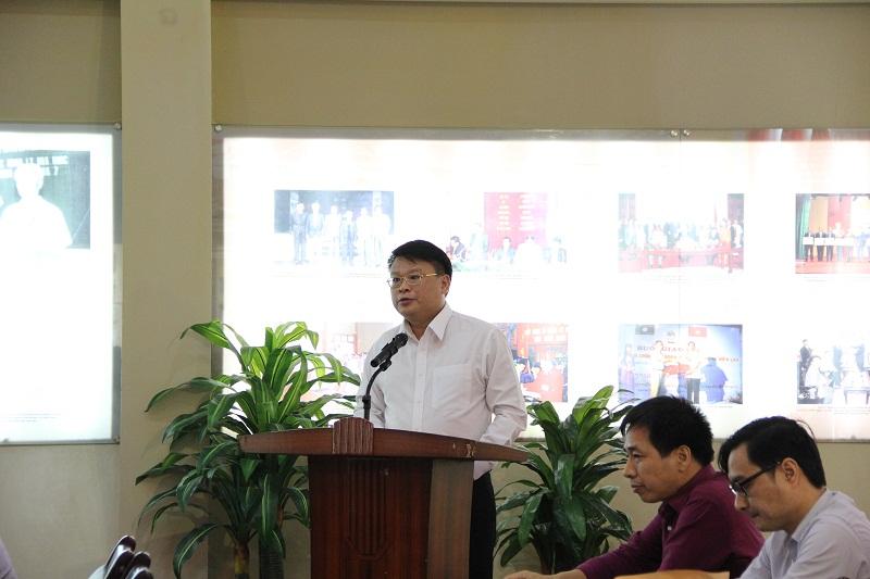 ThS. Bùi Huy Tùng phát biểu nhận nhiệm vụ
