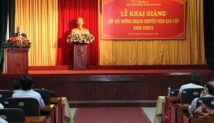 NGƯT. TS Vũ Thanh Xuân- Phó Giám đốc học viện phát biểu tại buổi Lễ khai giảng