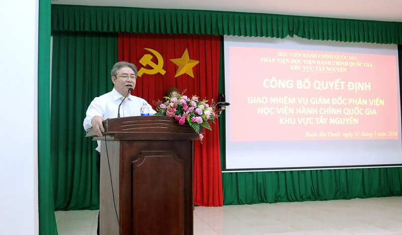 TS. Đặng Xuân Hoan phát biểu tại buổi lễ