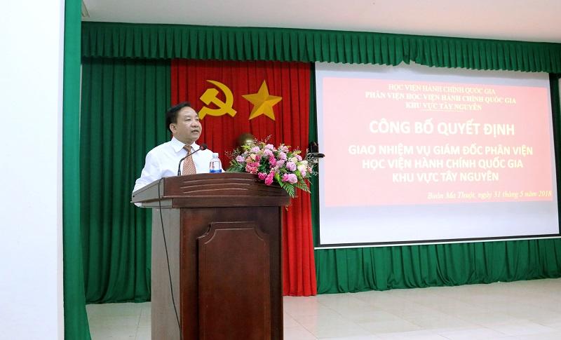 TS. Nguyễn Đăng Quế phát biểu tại buổi Lễ