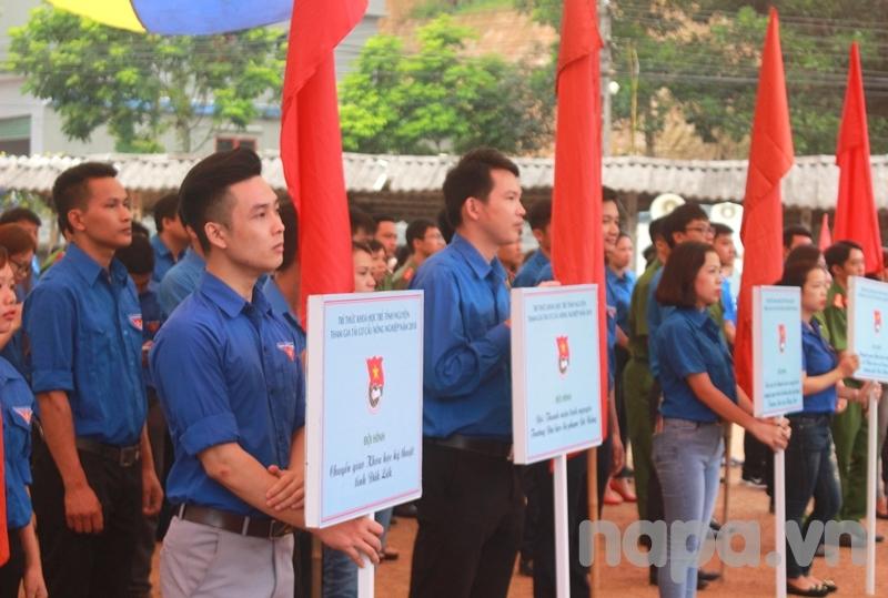 Đoàn viên, thanh niên tỉnh Thái Nguyên tham dự Lễ ra quân