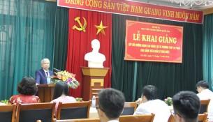 NGƯT.TS. Vũ Thanh Xuân - Phó Giám đốc Học viện phát biểu tại Lễ khai giảng