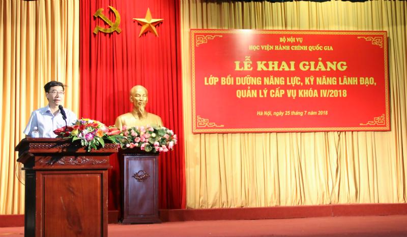 PGS. TS. Lương Thanh Cường – Phó Giám đốc Học viện phát biểu khai giảng khóa học