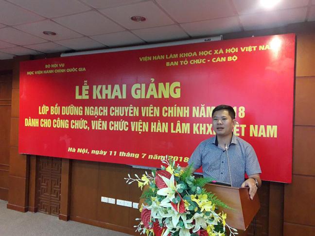 PGS.TS. Phạm Minh Phúc, Phó Trưởng ban Ban Tổ chức cán bộ Viện Hàn lâm Khoa học xã hội Việt Nam
