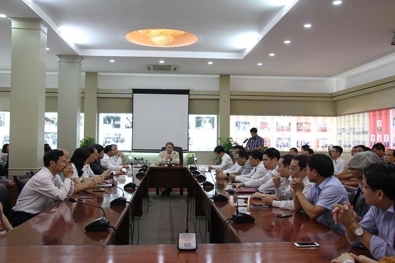 Toàn cảnh buổi công bố và trao các quyết định bổ nhiệm nhân sự lãnh đạo, quản lý