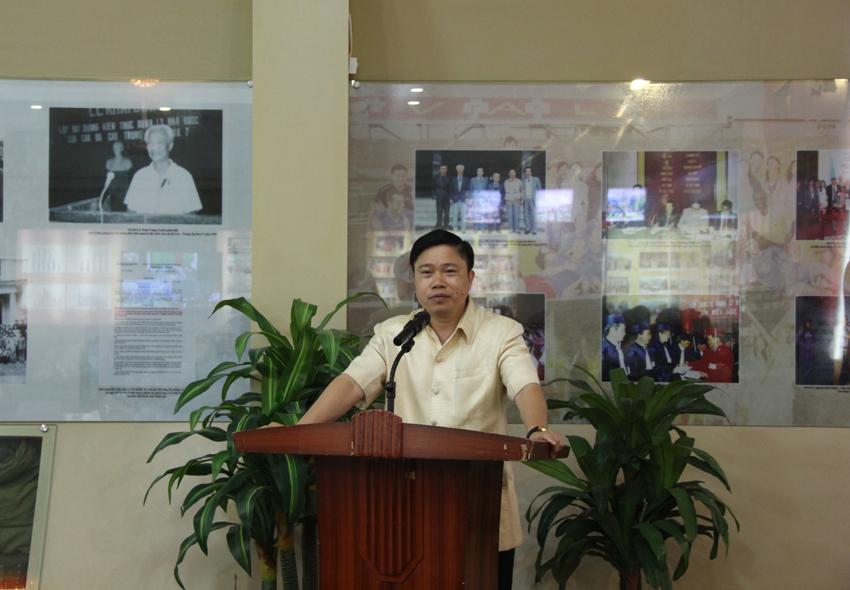 PGS.TS. Nguyễn Văn Hậu  phát biểu tại buổi công bố
