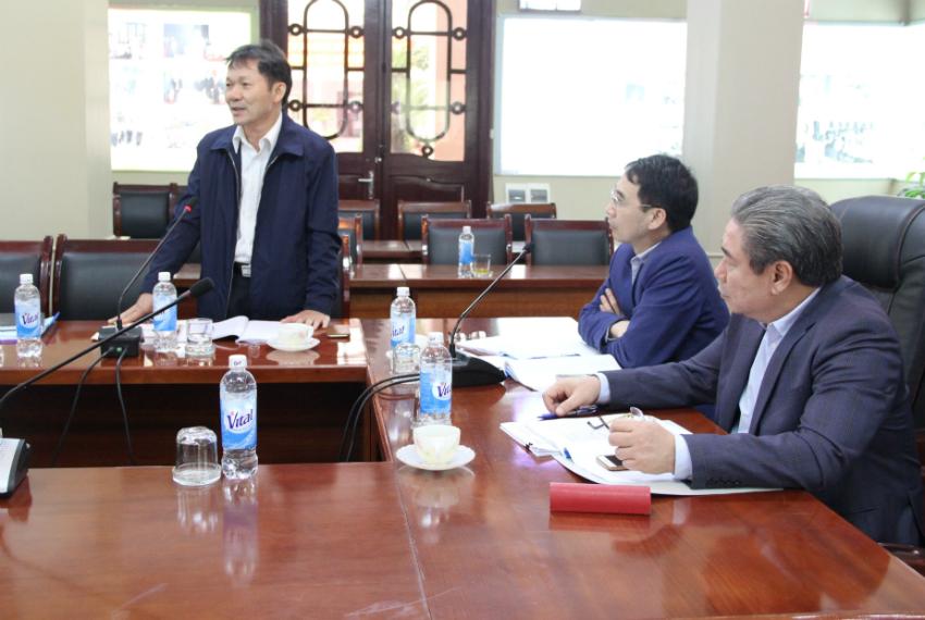 Lê Anh Tuấn – Phó Viện trưởng Viện Khoa học Tổ chức nhà nước phát biểu