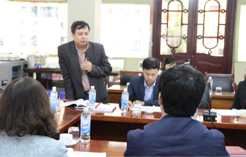 PGS. TS Đặng Khắc Ánh – Quyền Tổng Biên tập Tạp chí QLNN phát biểu ý kiến