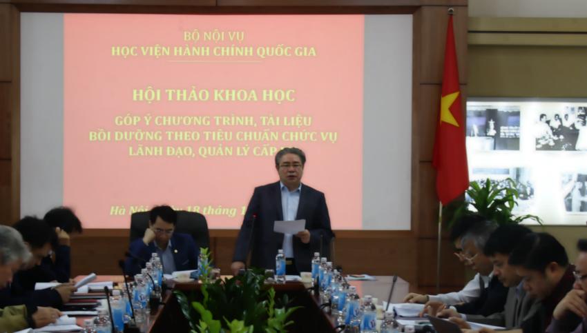 TS. Đặng Xuân Hoan – Giám đốc Học viện phát biểu khai mạc Hội thảo