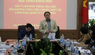 TS. Đặng Xuân Hoan – Giám đốc Học viện phát biểu ý kiến trong Hội thảo