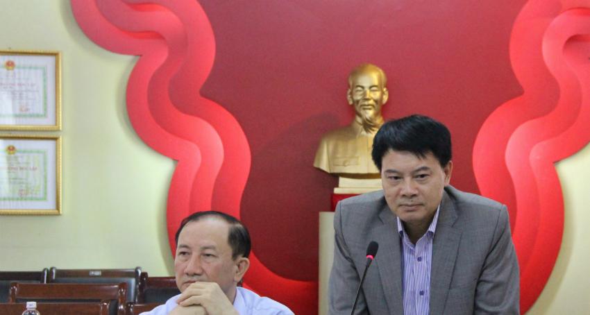 ThS. Tống Đăng Hưng – Phó Trưởng ban Quản lý bồi dưỡng phát biểu trong Hội thảo