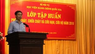 PGS.TS. Lương Thanh Cường – Phó Giám đốc Học viện phát biểu khai mạc Lớp tập huấn