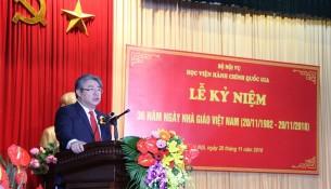TS. Đặng Xuân Hoan trình bày diễn văn Lễ kỷ niệm