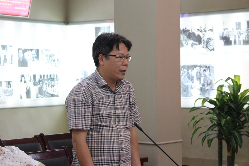 TS. Trần Nghị - Phó Tổng Biên tập Tạp chí Tổ chức Nhà nước nêu quan điểm tại Tọa đàm