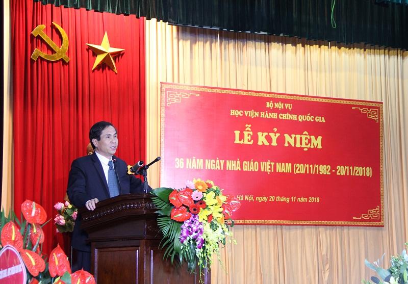 PGS.TS. Triệu Văn Cường – Thứ trưởng Bộ Nội vụ phát biểu tại Lễ kỷ niệm