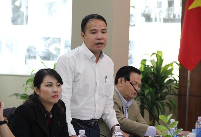 Đồng chí Trần Trung Kiên – Phó Vụ trưởng Vụ ĐTBD CBCCVC, Bộ Nội vụ phát biểu tại Hội nghị.