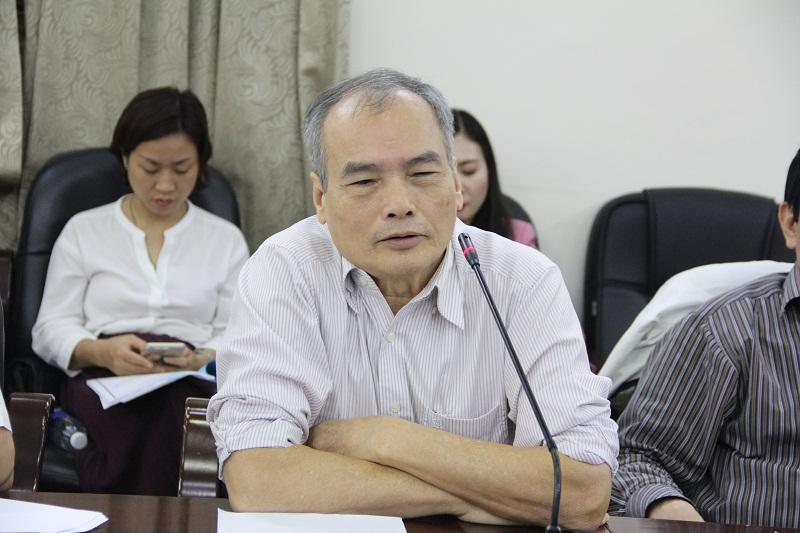 GS.TS. Nguyễn Hữu Khiển – nguyên Phó Giám đốc điều hành Học viện Hành chính Quốc gia đề xuất Học viện tăng cường liên kết với các đối tác quốc tế trong đào tạo sau đại học.