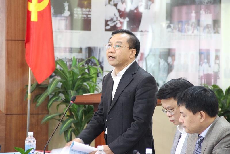 TS. Nguyễn Đăng Quế - Phó Giám đốc Học viện nêu quan điểm tại Hội nghị