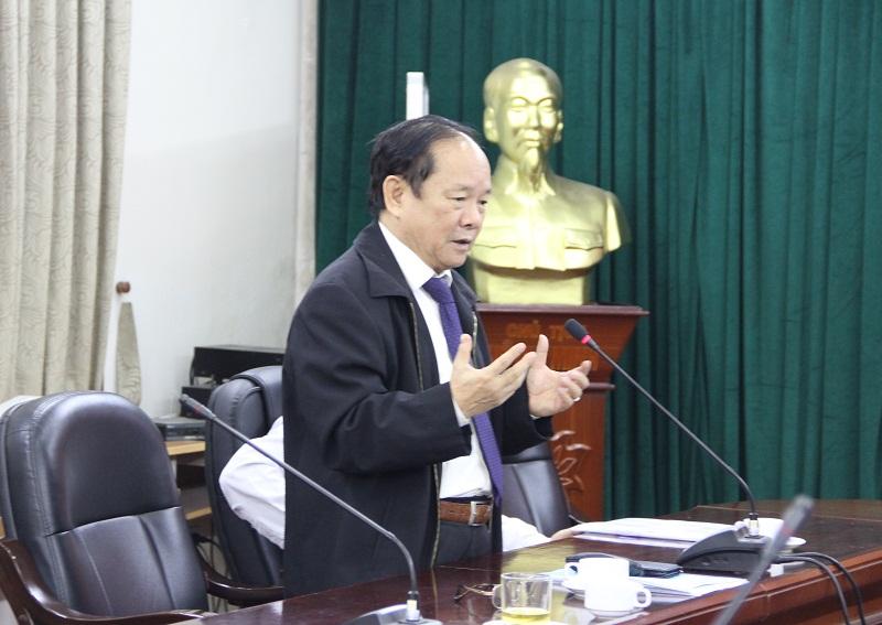 GS.TS. Đinh Văn Tiến – nguyên Phó Giám đốc Học viện Hành chính Quốc gia đề xuất áp dụng các quy định về kiểm định chất lượng cơ sở giáo dục đại học vào hoạt động đào tạo sau đại học tại Học viện.