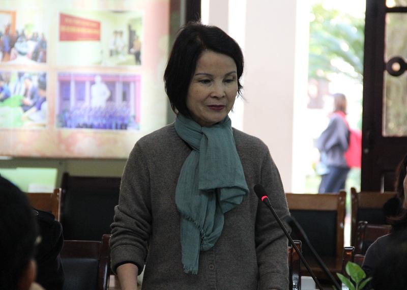 PGS.TS. Lê Chi Mai – Khoa QLNN về Kinh tế và Tài chính công phát biểu tại Hội thảo