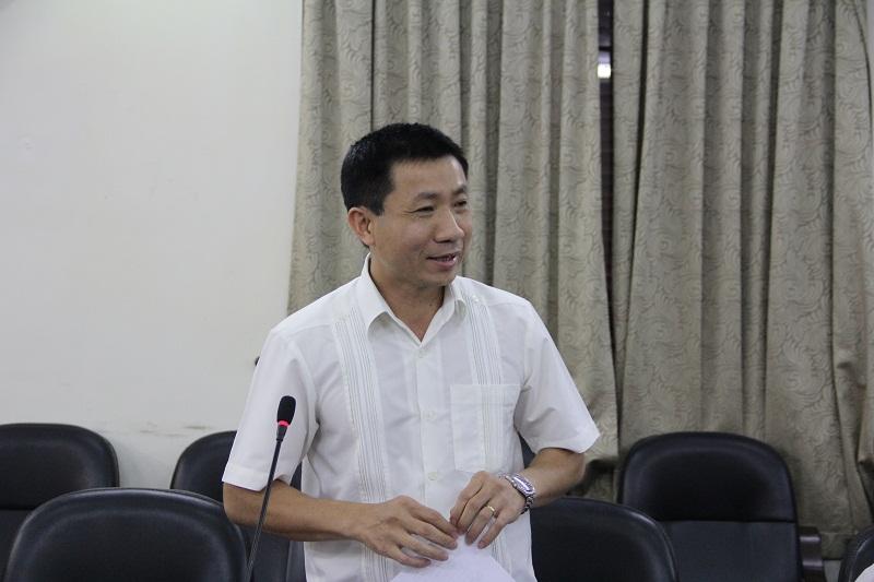 TS. Vũ Thanh Bình – Phó Vụ trưởng Vụ Khoa học, Công nghệ và Môi trường, Bộ Giáo dục và Đào tạo trao đổi về chất lượng đào tạo thạc sĩ ở các trường đại học hiện nay.