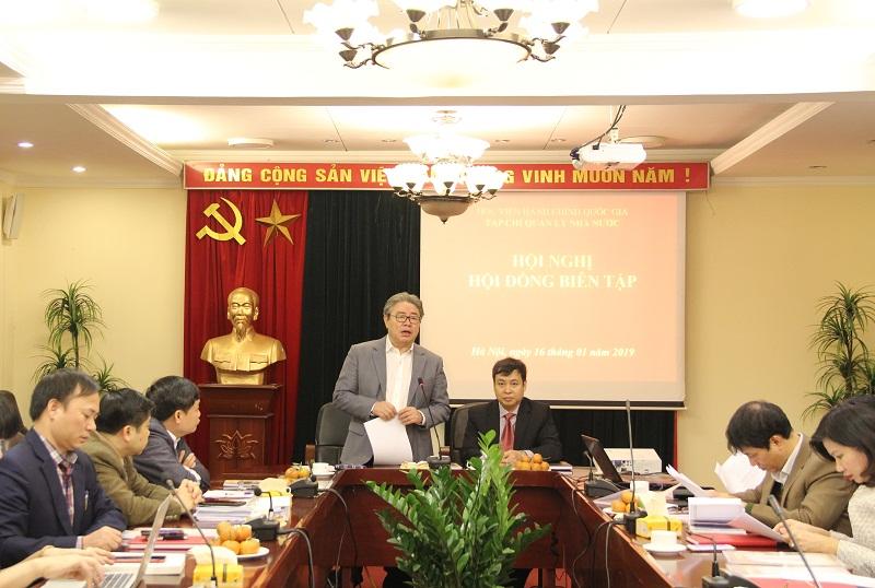 TS. Đặng Xuân Hoan – Giám đốc Học viện, Chủ tịch HĐBT phát biểu mở đầu Hội nghị