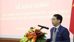 PGS.TS. Lương Thanh Cường – Phó Giám đốc Học viện phát biểu tại Lễ khai giảng
