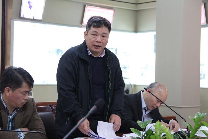 Đồng chí Nguyễn Hữu Tuấn - Vụ trưởng Vụ Tổ chức – Cán bộ Bộ Nội vụ góp ý về kế hoạch chuẩn bị tổ chức Lễ Kỷ niệm