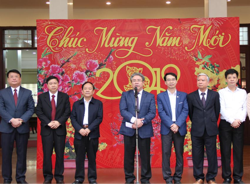 TS. Đặng Xuân Hoan – Bí thư Đảng ủy, Giám đốc Học viện phát biểu tại buổi Lễ