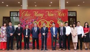 Thứ trưởng Bộ Nội vụ Triệu Văn Cường phát biểu chúc mừng tại buổi Lễ