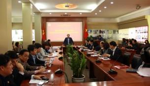 TS. Đặng Xuân Hoan - Giám đốc Học viện phát biểu tại buổi tập huấn