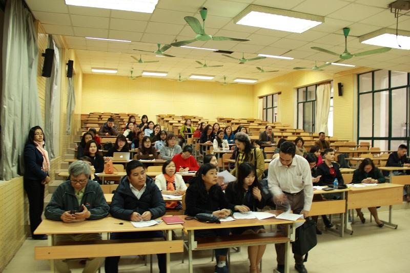 Các giảng viên Học viện tham gia vào buổi tập huấn