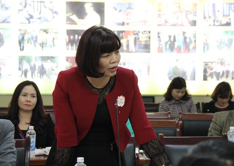 PGS.TS. Nguyễn Thị Hồng Hải – Trưởng Khoa Khoa học Hành chính và Tổ chức nhân sự góp ý về các định hướng trong Chiến lược phát triển của Học viện