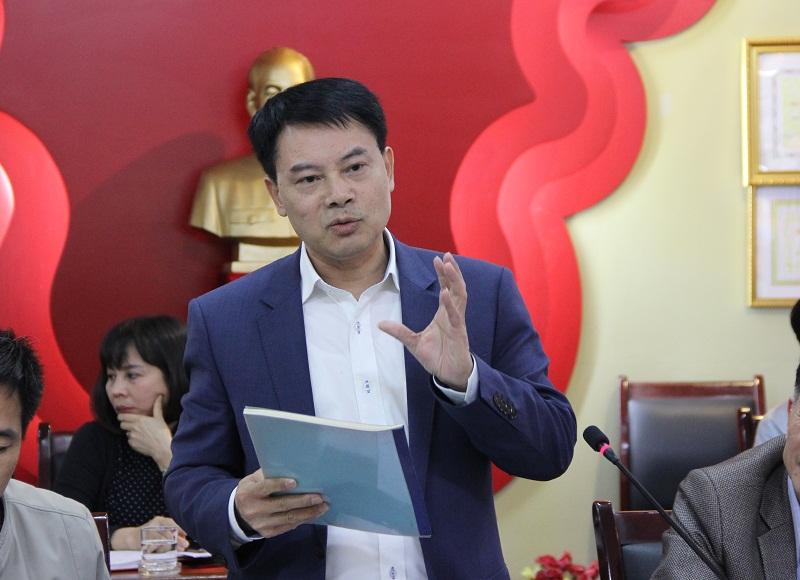 ThS. Tống Đăng Hưng – Phó Trưởng Ban Quản lý Bồi dưỡng trao đổi về kết cấu của Chiến lược