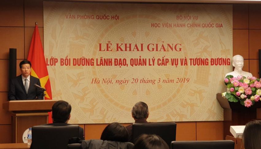 Ông Phạm Đình Toản – Phó Chủ nhiệm Văn phòng Quốc hội phát biểu tại buổi Lễ