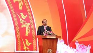 Thủ tướng Chính phủ Nguyễn Xuân Phúc phát biểu khai mạc Hội báo toàn quốc năm 2019.