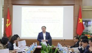 TS. Đặng Xuân Hoan - Giám đốc Học viện, Trưởng Ban Chỉ đạo xây dựng Đề án Chiến lược phát triển Học viện Hành chính Quốc gia phát biểu chỉ đạo Hội thảo