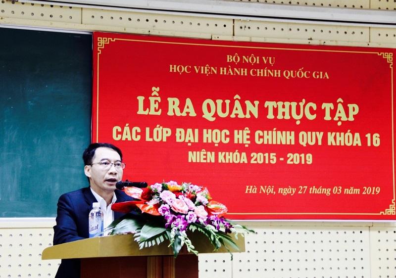 PGS.TS. Lương Thanh Cường – Phó Giám đốc Học viện phát biểu chỉ đạo tại Lễ ra quân thực tập