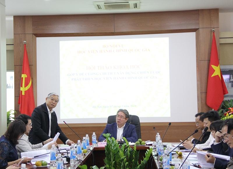 TS. Vũ Thanh Xuân – Phó Giám đốc Học viện trao đổi về mốc thời gian chiến lược