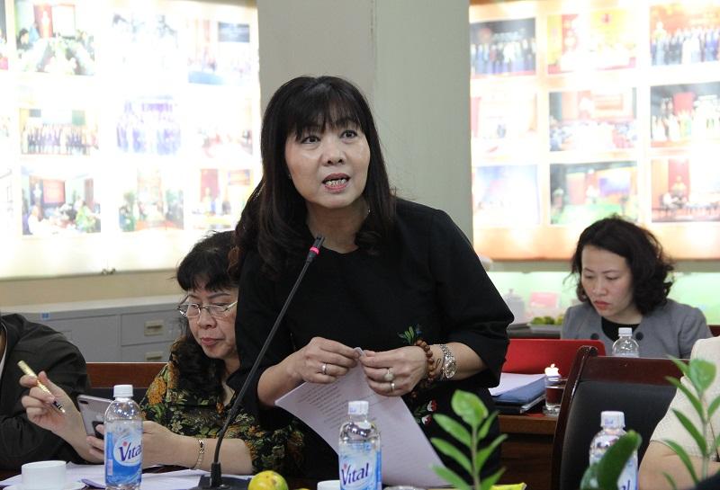 PGS.TS. Lê Thị Vân Hạnh – Nguyên Phó Giám đốc Học viện đề xuất tham khảo các chiến lược phát triển của Học viện trước đây