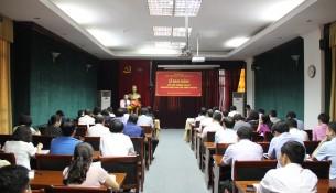 TS. Vũ Thanh Xuân - Phó Giám đốc Học viện phát biểu khai giảng lớp học