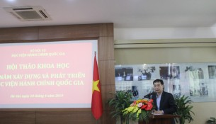 PGS.TS. Lương Thanh Cường - Phó Giám đốc Học viện phát biểu kết luận Hội thảo