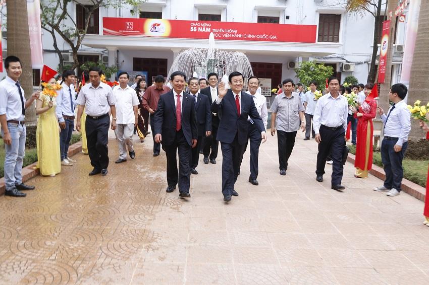 Đồng chí Trương Tấn Sang - Chủ tịch nước dự Lễ Kỷ niệm 55 năm ngày truyền thống Học viện Hành chính Quốc gia
