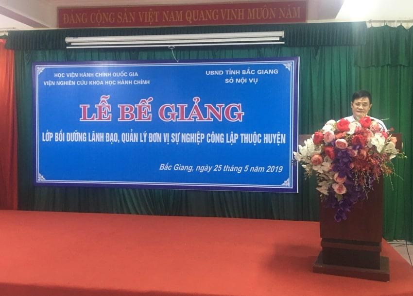Ông Khuông Văn Thông, Phó Giám đốc Sở Nội vụ tỉnh Bắc Giang phát biểu ý kiến