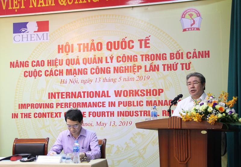 TS. Đặng Xuân Hoan – Giám đốc Học viện, Chủ tịch Hội đồng Khoa học và Đào tạo Học viện phát biểu khai mạc Hội thảo