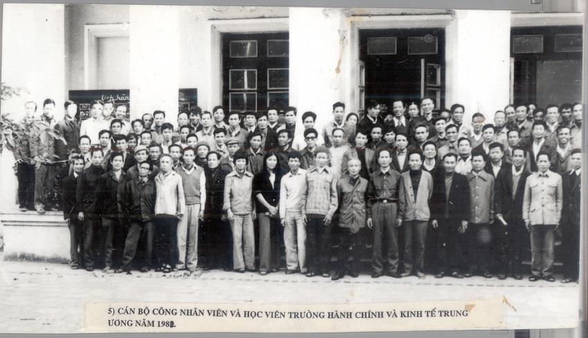 Cán bộ, giảng viên và học viên, năm 1980