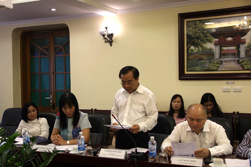 TS. Nguyễn Đăng Quế, Phó Giám đốc Học viện phát biểu khai mạc hội thảo