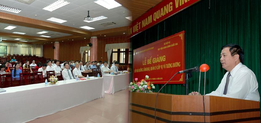 GS.TS. Nguyễn Xuân Thắng phát biểu bế giảng