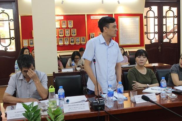 TS. Nguyễn Văn Lượng – Phó Trưởng ban Quản lý đào tạo, Học viện Chính trị Quốc gia Hồ Chí Minh phát biểu ý kiến tại Hội thảo