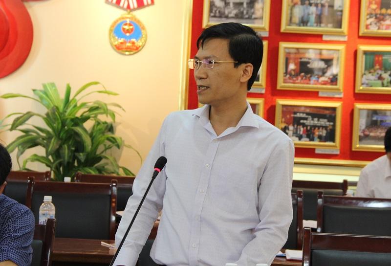 Ông Vũ Duy Duẩn - Phó Vụ trưởng Vụ Kế hoạch - Tài chính – Văn phòng Chính phủ góp ý về đề xuất cơ chế tài chính
